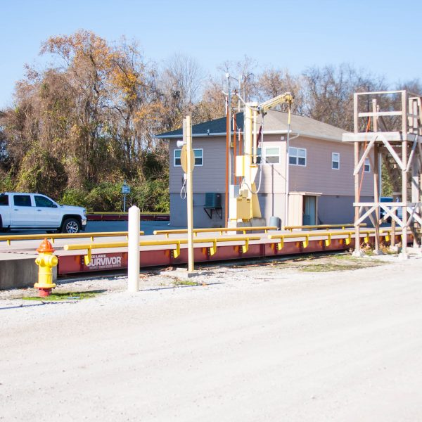 This project needed two separate 11'x70′ Steel Deck Rice Lake Truck Scales, one for inbound traffic and the other for outbound traffic for weighing trucks entering and leaving their grain storage facility.